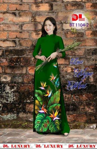Vài áo dài lụa nhung nhật đính đá cao cấp BT 1104 của vải áo dài Kim Ngọc31