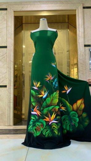 Vài áo dài lụa nhung nhật đính đá cao cấp BT 1104 của vải áo dài Kim Ngọc30