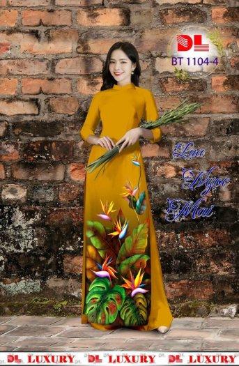 Vài áo dài lụa nhung nhật đính đá cao cấp BT 1104 của vải áo dài Kim Ngọc23