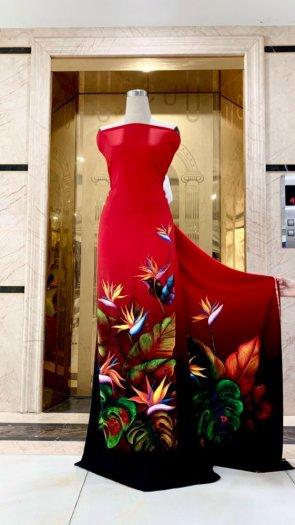 Vài áo dài lụa nhung nhật đính đá cao cấp BT 1104 của vải áo dài Kim Ngọc17