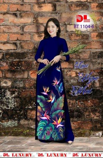 Vài áo dài lụa nhung nhật đính đá cao cấp BT 1104 của vải áo dài Kim Ngọc14