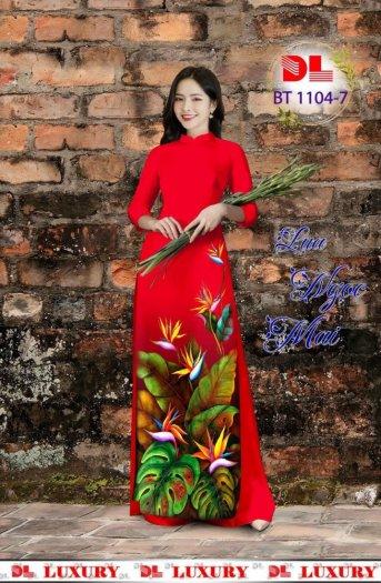 Vài áo dài lụa nhung nhật đính đá cao cấp BT 1104 của vải áo dài Kim Ngọc11