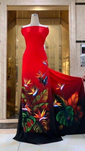 Vài áo dài lụa nhung nhật đính đá cao cấp BT 1104 của vải áo dài Kim Ngọc10