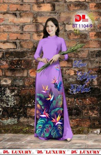 Vài áo dài lụa nhung nhật đính đá cao cấp BT 1104 của vải áo dài Kim Ngọc7