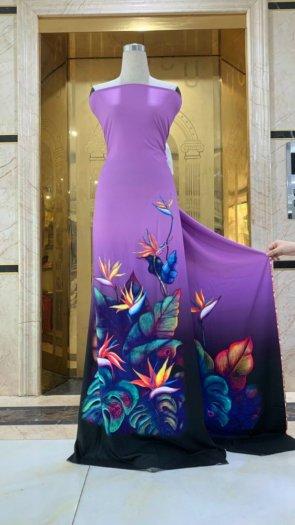Vài áo dài lụa nhung nhật đính đá cao cấp BT 1104 của vải áo dài Kim Ngọc6