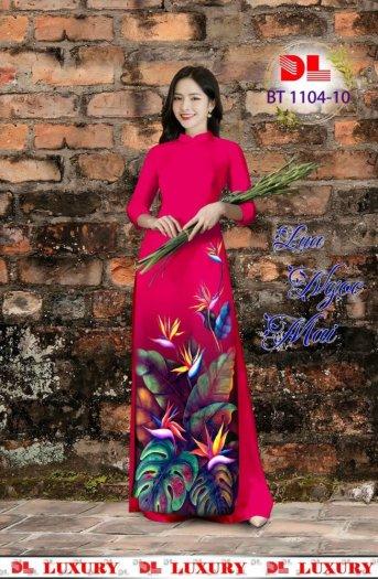 Vài áo dài lụa nhung nhật đính đá cao cấp BT 1104 của vải áo dài Kim Ngọc3