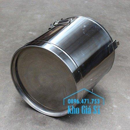 Bán thùng inox cách nhiệt 2 ngăn đựng đồ ăn - Nồi inox 2 lớp giữ nhiệt chia thành 2 ngăn đựng đồ ăn nấu chín6