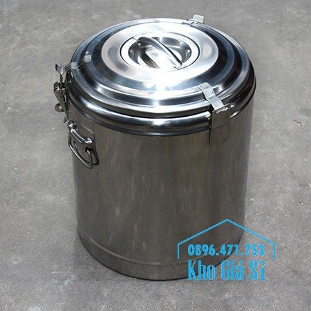 Cung cấp các loại thùng inox giữ nhiệt, thùng inox cách nhiệt 2 ngăn và 3 ngăn đựng cơm canh, cháo soup, thức ăn nấu chín, vận chuyển thức ăn7