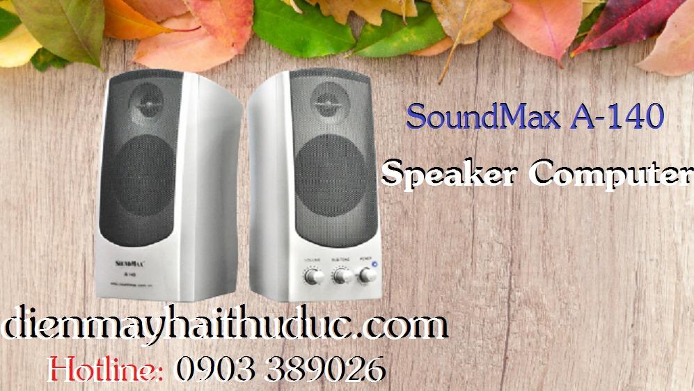Loa Vi tính SoundMax A-140 và A-150 có 2 màu Bạc và Đen3