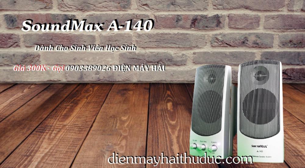 Loa Vi tính SoundMax A-140 và A-150 có 2 màu Bạc và Đen1