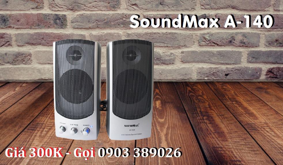Loa Vi tính SoundMax A-140 và A-150 có 2 màu Bạc và Đen0