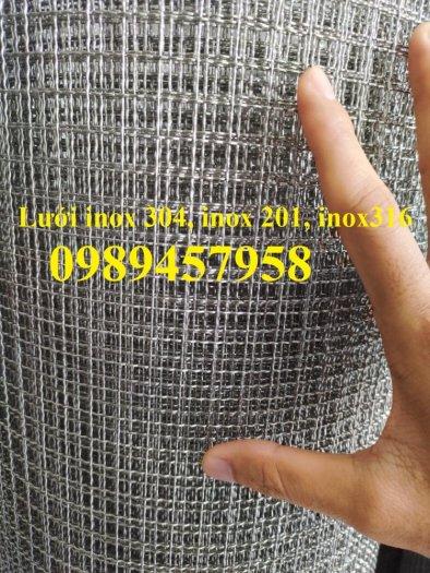 Lưới inox ô 10x10, 20x20, 30x30, Lưới inox304 15x15 dây 1,5ly, 2ly, inox316 có sẵn6