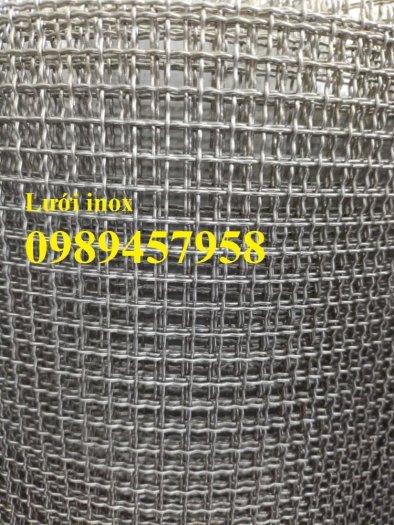 Lưới inox ô 10x10, 20x20, 30x30, Lưới inox304 15x15 dây 1,5ly, 2ly, inox316 có sẵn5