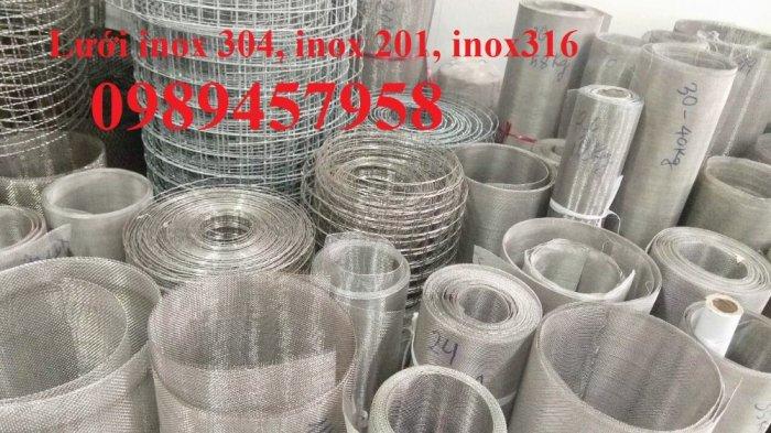 Lưới inox ô 10x10, 20x20, 30x30, Lưới inox304 15x15 dây 1,5ly, 2ly, inox316 có sẵn2