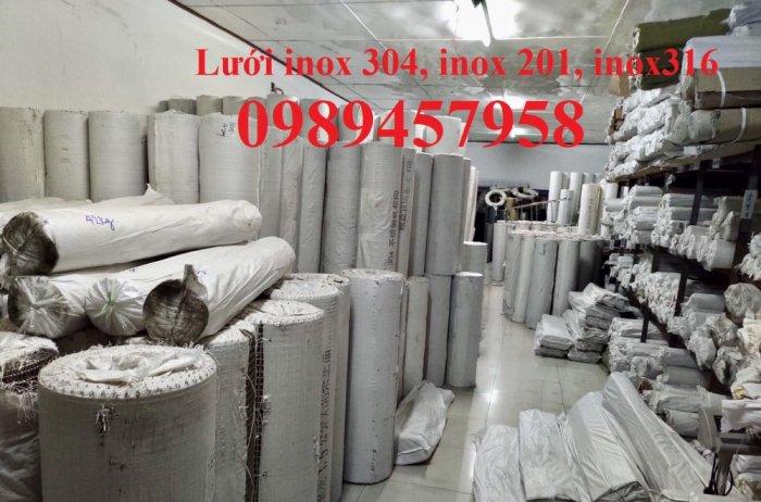 Lưới inox ô 10x10, 20x20, 30x30, Lưới inox304 15x15 dây 1,5ly, 2ly, inox316 có sẵn0