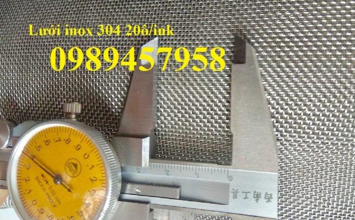 Chuyên Lưới inox 35 ô/ink, Lưới chống côn trùng  - Lưới lọc 40mesh, Lưới inox 50mesh và 60mesh1