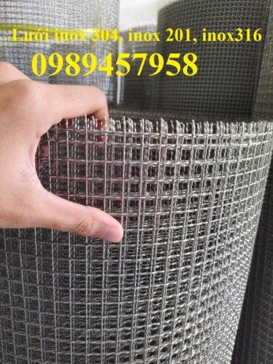 Lưới inox304 dây 0,5ly, 0,7ly, 1ly ô 3x3, 5x5, 10x10, 15x15, 20x2021