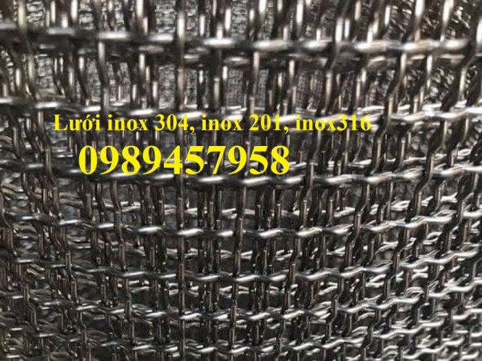 Lưới inox304 dây 0,5ly, 0,7ly, 1ly ô 3x3, 5x5, 10x10, 15x15, 20x2020