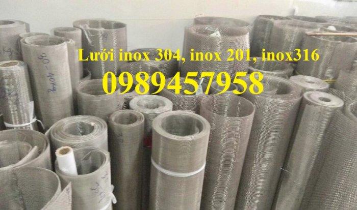 Lưới inox304 dây 0,5ly, 0,7ly, 1ly ô 3x3, 5x5, 10x10, 15x15, 20x2018