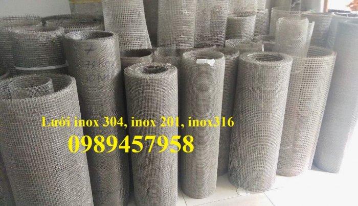 Lưới inox304 dây 0,5ly, 0,7ly, 1ly ô 3x3, 5x5, 10x10, 15x15, 20x2017