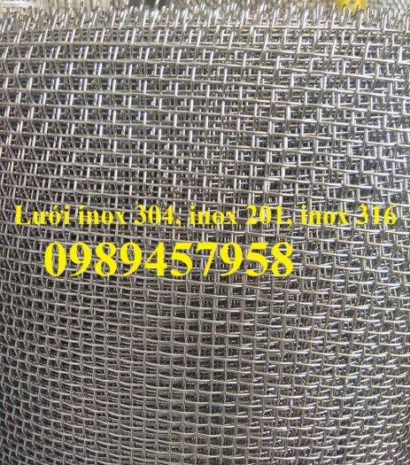 Lưới inox304 dây 0,5ly, 0,7ly, 1ly ô 3x3, 5x5, 10x10, 15x15, 20x2016