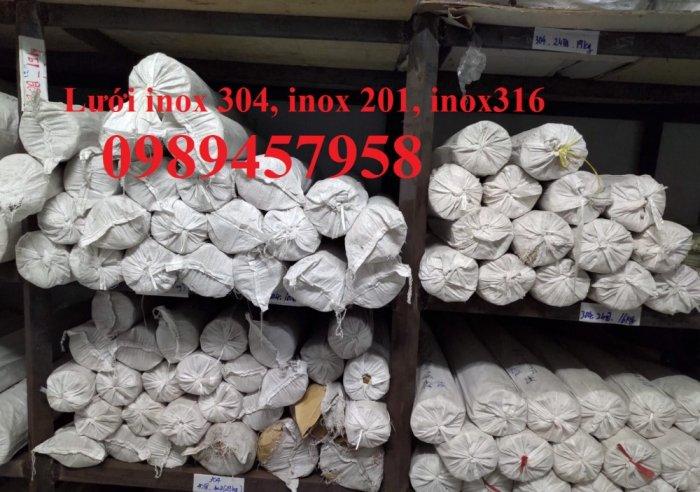 Lưới inox304 dây 0,5ly, 0,7ly, 1ly ô 3x3, 5x5, 10x10, 15x15, 20x2015