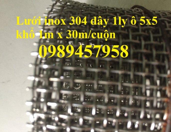 Lưới inox304 dây 0,5ly, 0,7ly, 1ly ô 3x3, 5x5, 10x10, 15x15, 20x2013