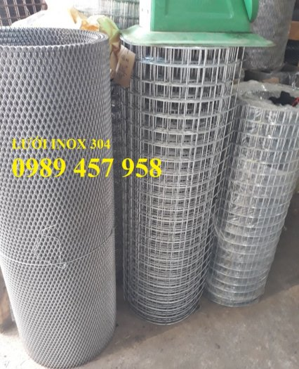 Lưới inox304 dây 0,5ly, 0,7ly, 1ly ô 3x3, 5x5, 10x10, 15x15, 20x2012