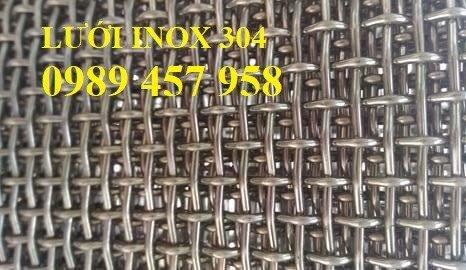 Lưới inox304 dây 0,5ly, 0,7ly, 1ly ô 3x3, 5x5, 10x10, 15x15, 20x2011