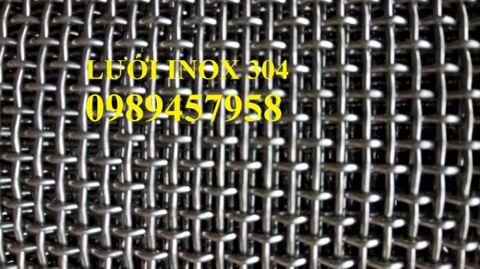 Lưới inox304 dây 0,5ly, 0,7ly, 1ly ô 3x3, 5x5, 10x10, 15x15, 20x209