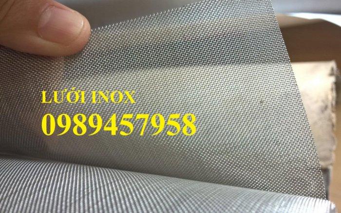 Lưới inox304 dây 0,5ly, 0,7ly, 1ly ô 3x3, 5x5, 10x10, 15x15, 20x207