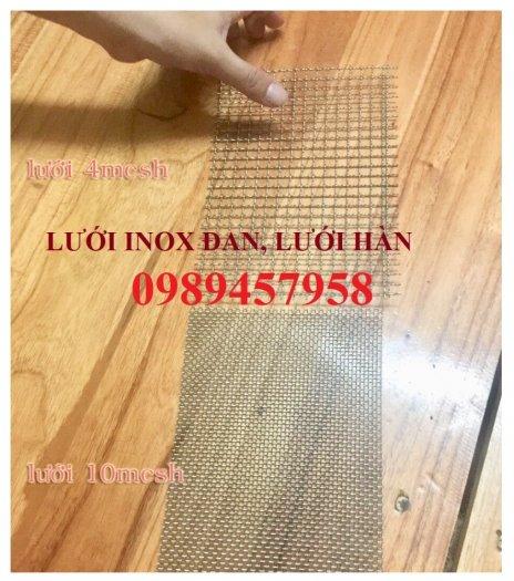 Lưới inox304 dây 0,5ly, 0,7ly, 1ly ô 3x3, 5x5, 10x10, 15x15, 20x204