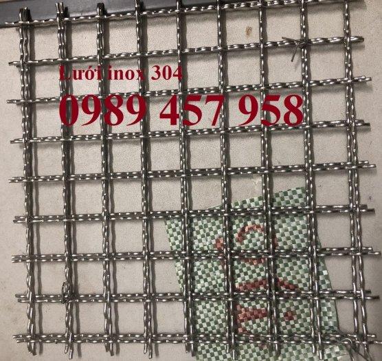 Lưới inox304 dây 0,5ly, 0,7ly, 1ly ô 3x3, 5x5, 10x10, 15x15, 20x203