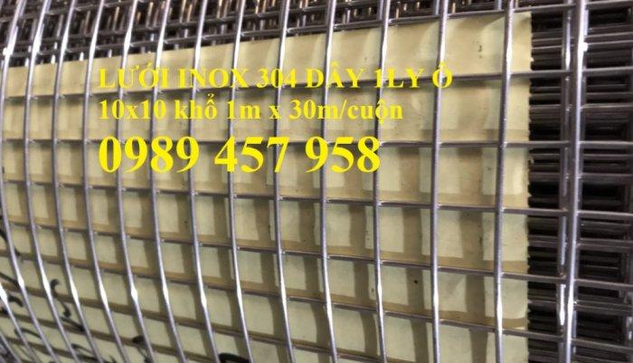 Lưới inox304 dây 0,5ly, 0,7ly, 1ly ô 3x3, 5x5, 10x10, 15x15, 20x200
