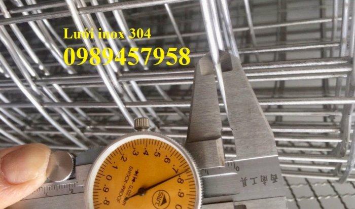 Lưới thép không rỉ SUS304, SUS316, SUS201, Lưới đan, lưới hàn inox0