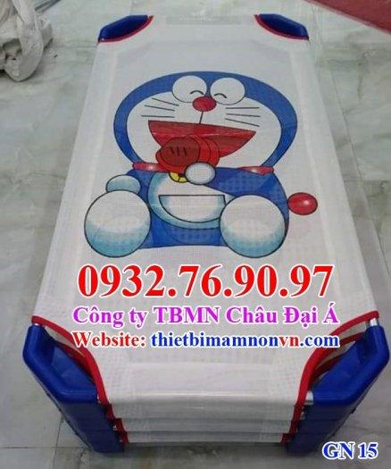 Giường ngủ vải lưới trẻ em5
