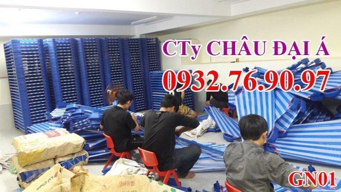 Giường ngủ vải lưới trẻ em2