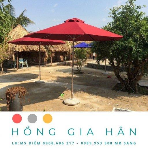 Dù Che Nắng Trang Trí Sân Vườn Hồng Gia Hân0