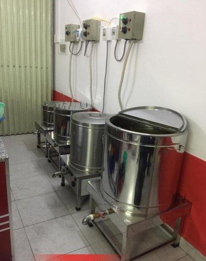 Nồi điện nấu nước lèo bán bún inox 304 Hải MInh HM074