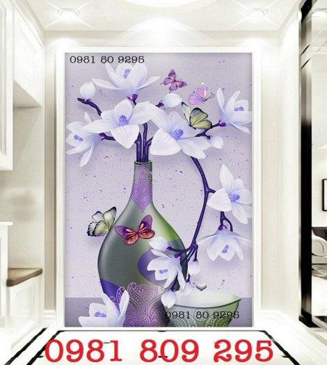 Mẫu tranh gạch 3d - tranh bình hoa  siêu đep3