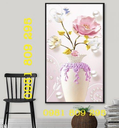 Mẫu tranh gạch 3d - tranh bình hoa  siêu đep2