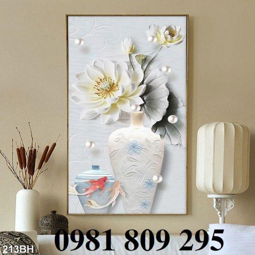 Mẫu tranh gạch 3d - tranh bình hoa  siêu đep1