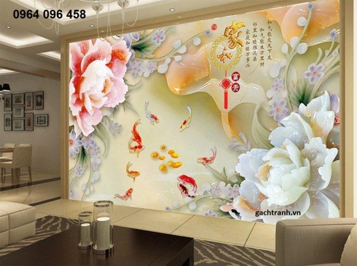 Tranh gạch 3d phòng khách - phòng ngủ - GMN61