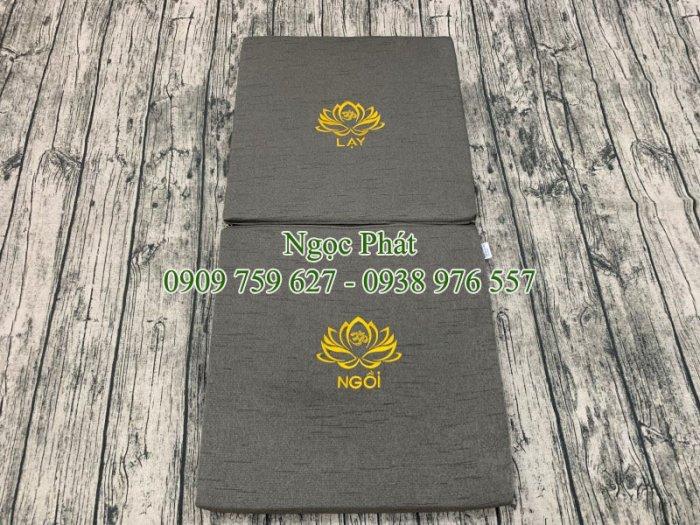 Nệm Ngồi Thiền Tọa Cụ 100x50cm Gấp Gọn Phong Cách Phật Giáo2