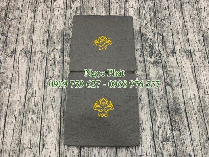 Nệm Ngồi Thiền Tọa Cụ 100x50cm Gấp Gọn Phong Cách Phật Giáo1