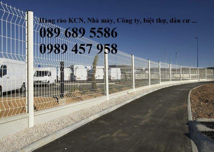 Lưới hàng rào sơn tĩnh điện phi 5 a 50x150, Hàng rào mạ kẽm nhúng nóng D5 50x2006