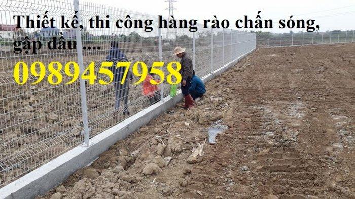 Lưới hàng rào sơn tĩnh điện phi 5 a 50x150, Hàng rào mạ kẽm nhúng nóng D5 50x2005