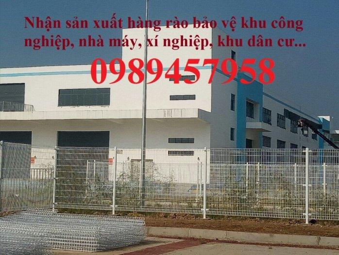 Lưới hàng rào sơn tĩnh điện phi 5 a 50x150, Hàng rào mạ kẽm nhúng nóng D5 50x2004