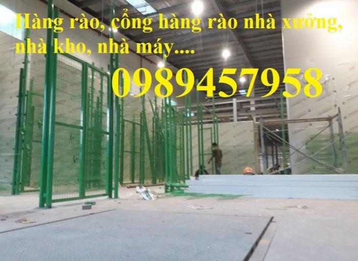 Lưới hàng rào sơn tĩnh điện phi 5 a 50x150, Hàng rào mạ kẽm nhúng nóng D5 50x2002