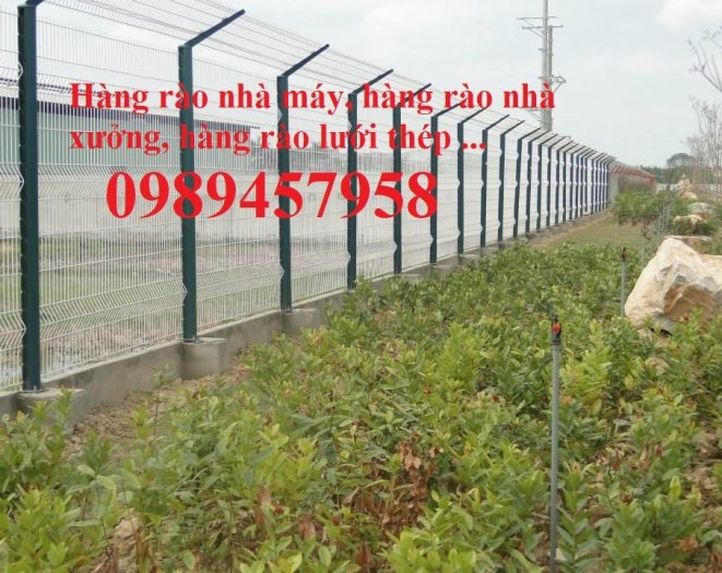 Lưới hàng rào sơn tĩnh điện phi 5 a 50x150, Hàng rào mạ kẽm nhúng nóng D5 50x2001
